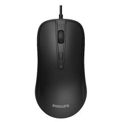 Philips/飞利浦 SPK7214 4D商务办公 有线鼠标【100/件】 黑色 USB