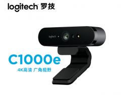 罗技 (Logitech)C1000E 主播电脑麦克风摄像头 4K广角会议摄像头