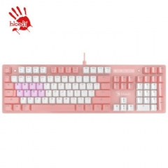 血手幽灵 B770 粉军版 104键 青轴跑马灯机械键盘【编程版】 粉色 USB