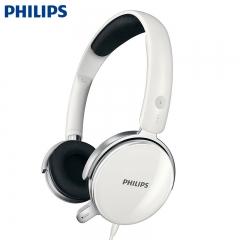 Philips/飞利浦 SHM7110U 超重低音带麦语音直播电脑手机耳麦 头戴式PC耳机 白色