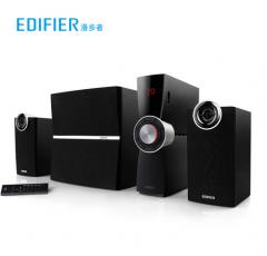 漫步者(EDIFIER)C2XB 外置功放 2.1多媒体蓝牙 电脑音箱 黑色