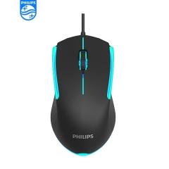 Philips/飞利浦 SPK9314 电竞游戏鼠标 发光有线鼠标【60/件】 黑色 USB