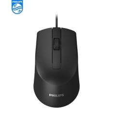 Philips/飞利浦 SPK7104 3D商务办公 有线鼠标【100/件】 黑色 USB