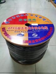 安谱永光500 超五类室外4芯网线 铜包铝 0.5线芯 足500米
