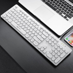 爱国者 W916A 朋克键帽 商务有线键盘 白色 USB