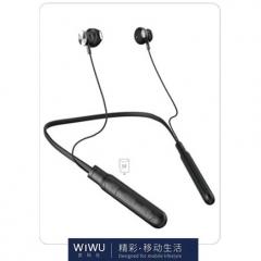 WIWU Runner PRO 可插TF卡 带线控无线蓝牙耳机 黑色