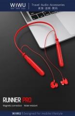 WIWU Runner PRO 可插TF卡 带线控无线蓝牙耳机 红色