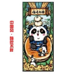 【多金版】中国风-嗨吃不胖 400*900*3mm 精密锁边鼠标垫