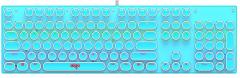 爱国者 W930 朋克键帽 青轴 跑马灯电竞机械键盘 蓝色