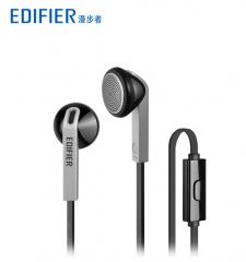 漫步者 H190 时尚耳塞式电脑耳机音乐MP3立体声耳机 (单头) 酷雅黑