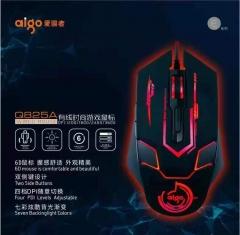 爱国者 Q825A 6D炫彩发光 游戏有线鼠标 黑色 USB