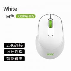 acer/宏碁 L171-WP 双模 蓝牙5.0 静音 办公便携无线鼠标 白色 无线
