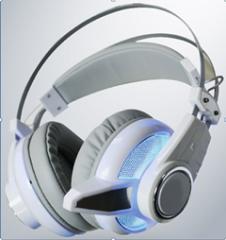 清华同方 A-350 发光版游戏头戴式耳机 白色