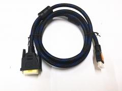 黄刀 HDMI转DVI 视频线 1.5米