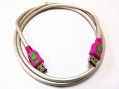 鑫雅 USB3.0 对拷线 珠光白 3米