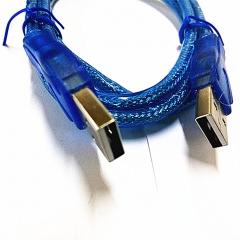 鑫方圆 USB2.0 连接线 对拷线 蓝色 1.5米