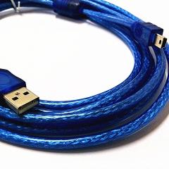 鑫雅 USB转T 型线 蓝色 3米