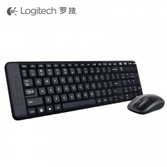 罗技 MK220 无线键鼠套装 黑色 无线